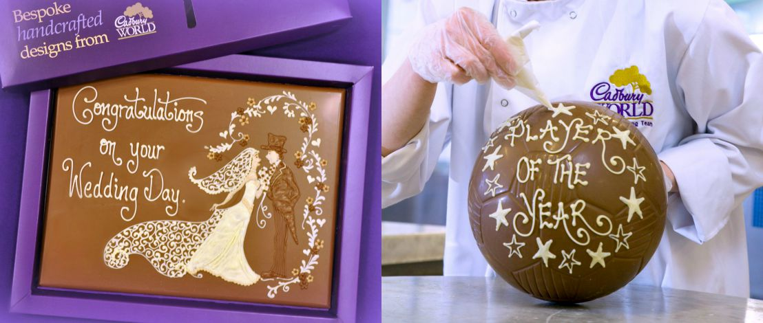 Cadbury world gifts cadbury world have some fantastic gift ideas for that special someone personalised chocolate gifts negle Gallery